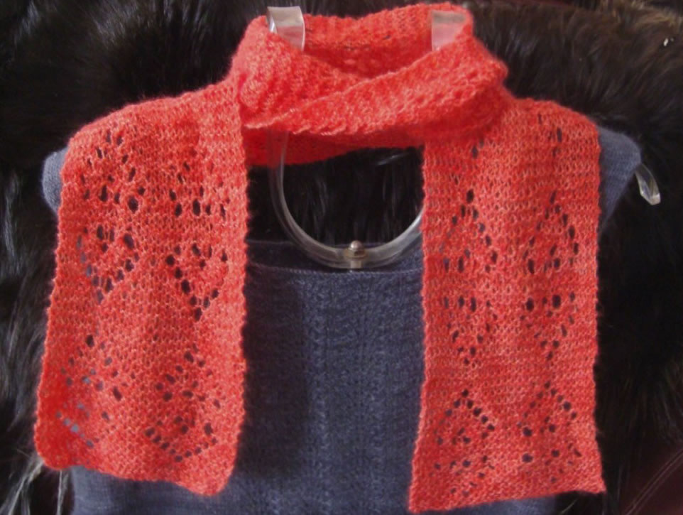 Heart-to-Heart Lace Scarf
